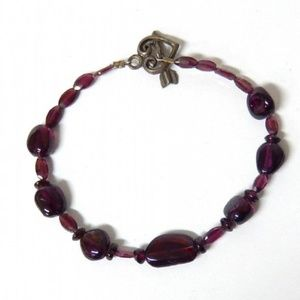 Genuine Sterling Silver & Garnet